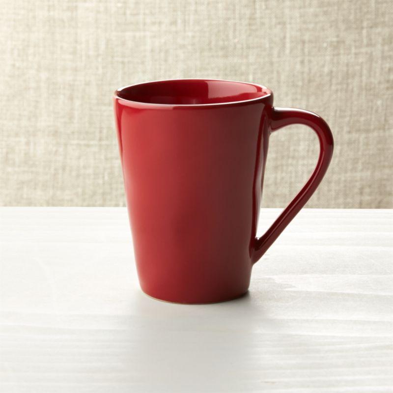 Marin Red Coffee Mug Reviews Crate And Barrel