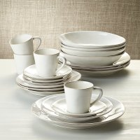 Marin White 20-Piece Dinnerware Set | Crate and Barrel