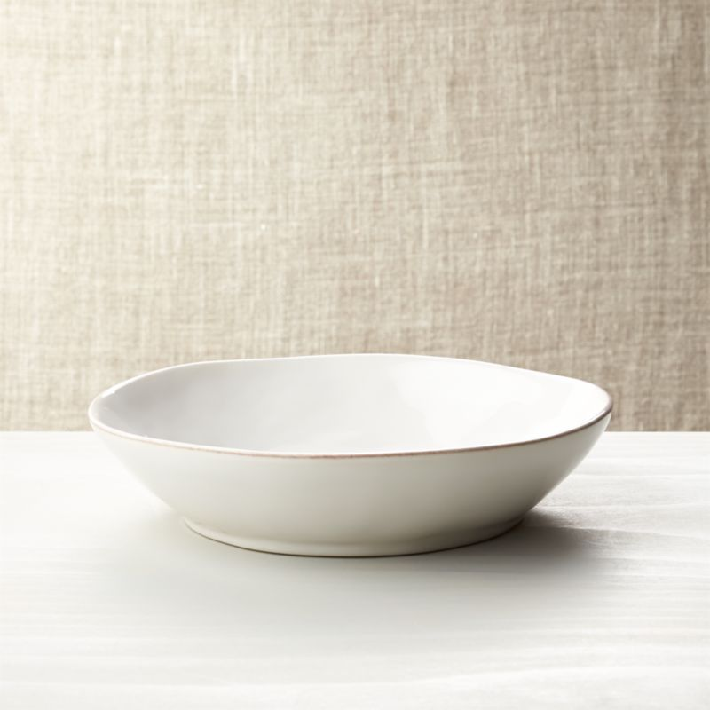 room and board chair desk cover marin white pasta-low bowl + reviews | crate barrel