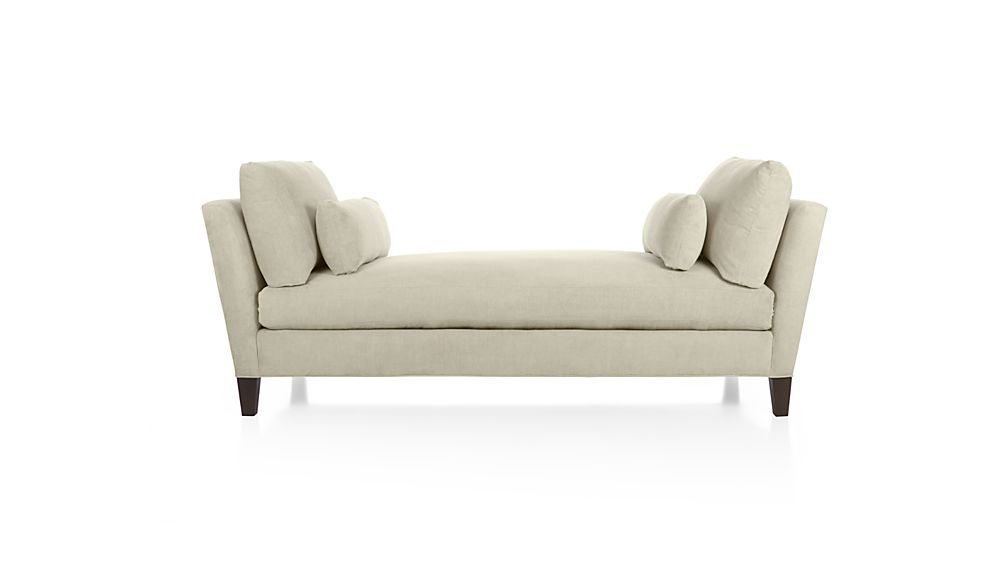 chenille sofa fabric care chicago bed uk marlowe upholstered daybed | crate and barrel