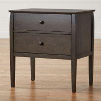 Mason 2-Drawer Grey Nightstand | Crate and Barrel