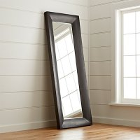 Maxx Black Floor Mirror | Crate and Barrel