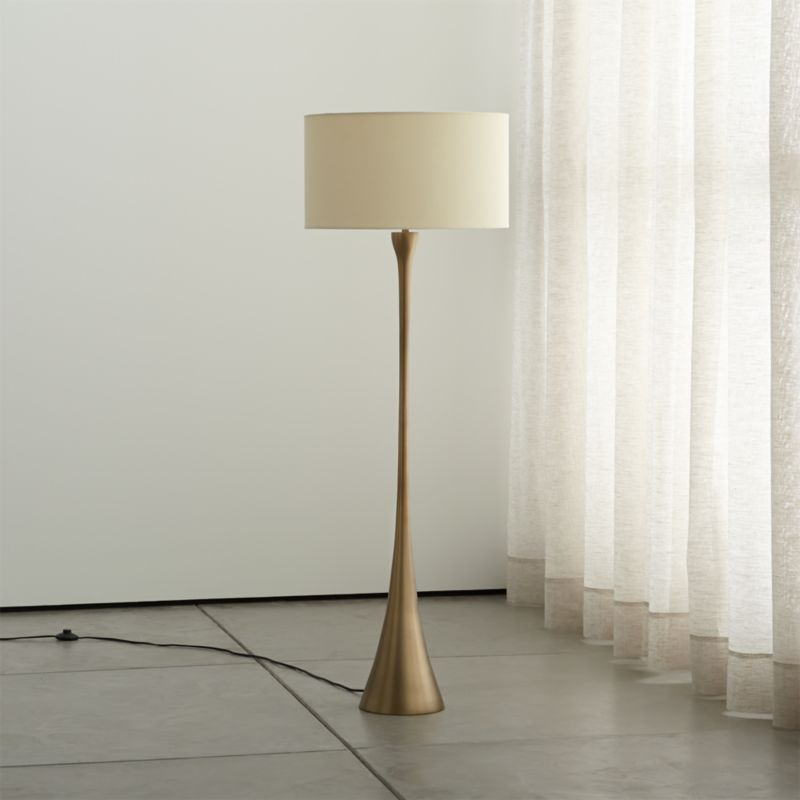 floor lamp living room mini bar design in melrose brass reviews crate and barrel melrosebrassfloorlampoffshf15