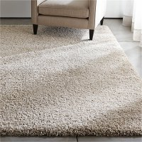 Memphis Stone Natural Shag Rug | Crate and Barrel