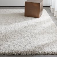 Memphis White Shag Rug | Crate and Barrel