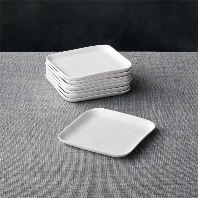 kitchen benches with storage pig set of 8 mercer square appetizer plates + reviews | crate ...