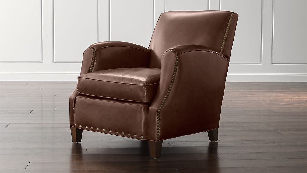 Metropole Leather Chair Crate And Barrel