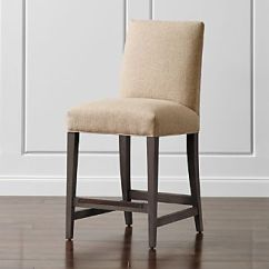 Upholstered Counter Height Chair High Table 24 Inch Bar Stools Crate And Barrel Miles Stool
