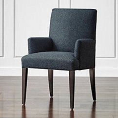 Upholstered Arm Dining Chair Discount Accent Chairs Under 100 Miles Reviews Crate And Barrel