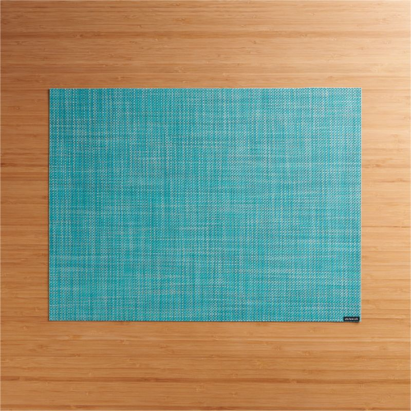 turquoise accent chairs chair cover rentals albany ga chilewich mini basketweave vinyl placemat + reviews | crate and barrel