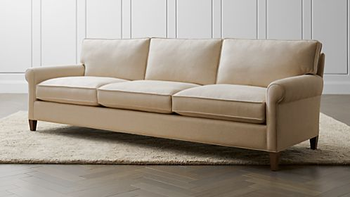 roll arm sofa canada diy narrow table sofas couches and loveseats crate barrel montclair 103 grande
