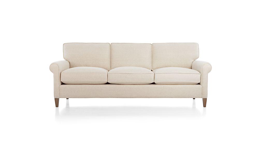Montclair 3-Seat Sofa Cream Rolled Arm Sofa