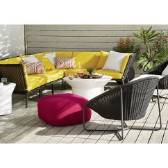 Outdoor Chair Lounge Upholstered Dining Room Side Chairs Morocco Graphite Oval With Cushion Reviews Crate And Barrel