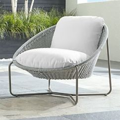 Lounge Outdoor Chairs Sesame Street Chair Crate And Barrel Morocco Light Grey Oval With Cushion