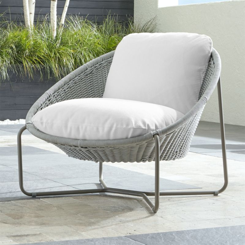 cheap outdoor lounge chairs eddie bauer high chair morocco light grey oval with cushion reviews crate and barrel