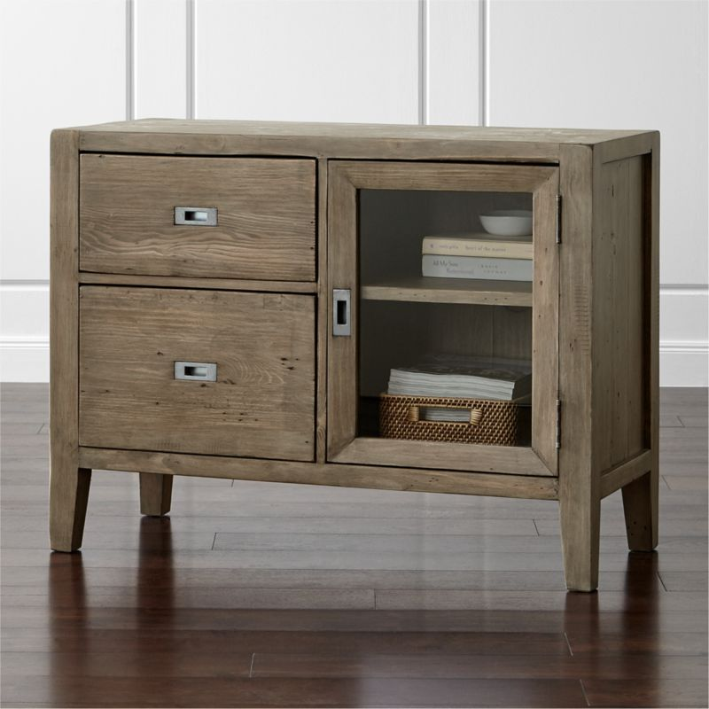 Morris Ash Grey Credenza  Reviews  Crate and Barrel