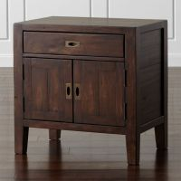 Morris Chocolate Brown Nightstand | Crate and Barrel