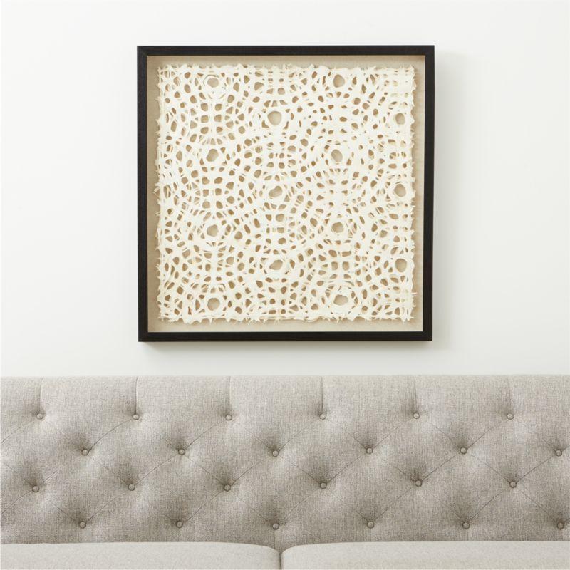 Natural Circles Paper Wall Art Reviews Crate And Barrel