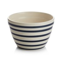 Individual Navy and White Striped Mixing Bowl | Crate and ...