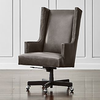 leather wing chairs folding target outdoor wingback crate and barrel neo office chair