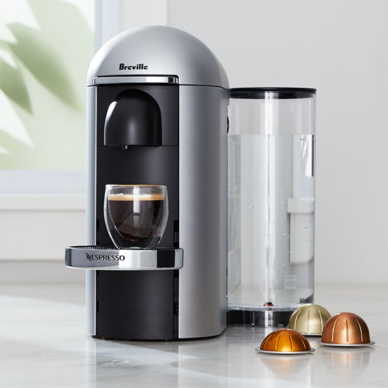 silver accent chair desks and chairs finglas nespresso by breville vertuo deluxe plus coffee maker + reviews   crate barrel