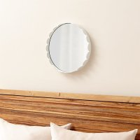 Ninna Round Scalloped Mirror | Crate and Barrel