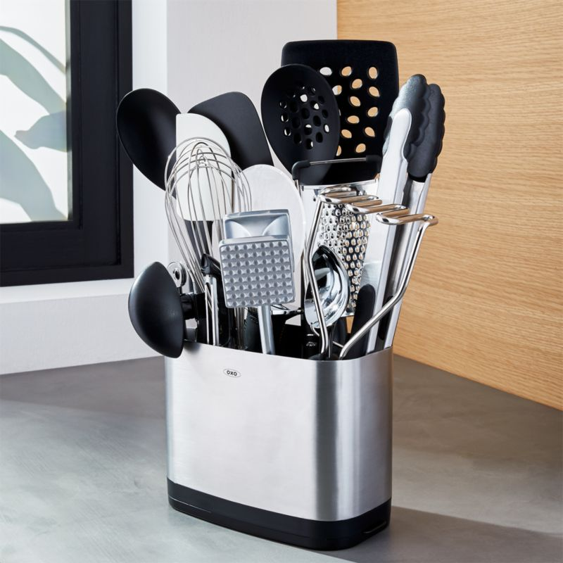 oxo kitchen supplies sconces 15 piece utensil set reviews crate and barrel oxo15pcutensilsetshf16