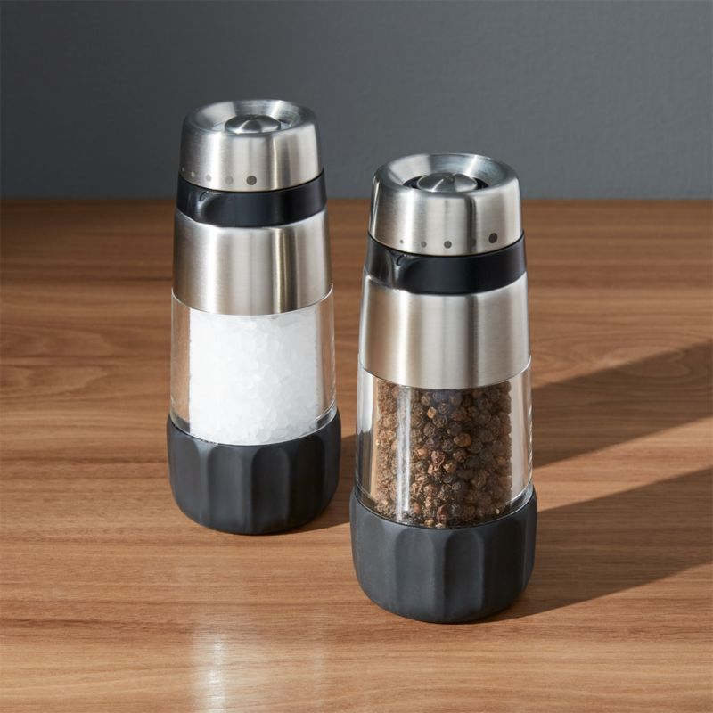 OXO Salt and Pepper Grinders  Crate and Barrel