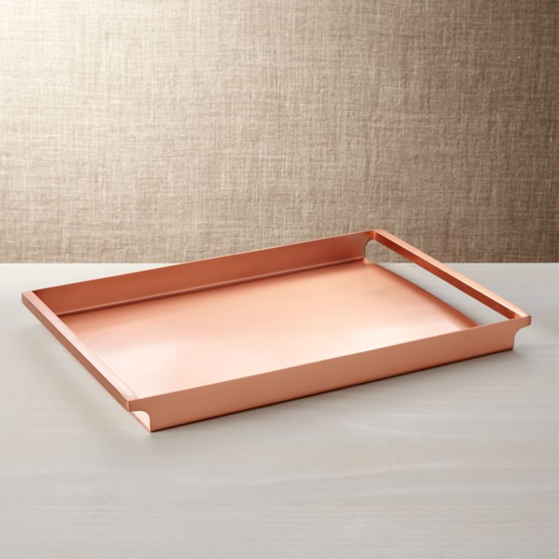 Orb Copper Tray Reviews Crate And Barrel