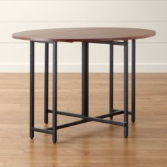 Drop Leaf Kitchen Cart Wenge Wood Cabinets Origami Oval Dining Table | Crate And Barrel