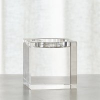 Oslo Crystal Pillar Holder | Crate and Barrel