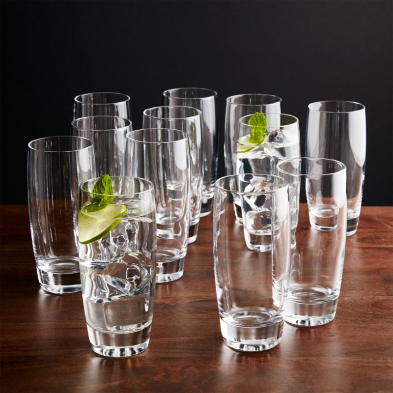 Otis Highball Glasses Set of 12  Reviews  Crate and Barrel