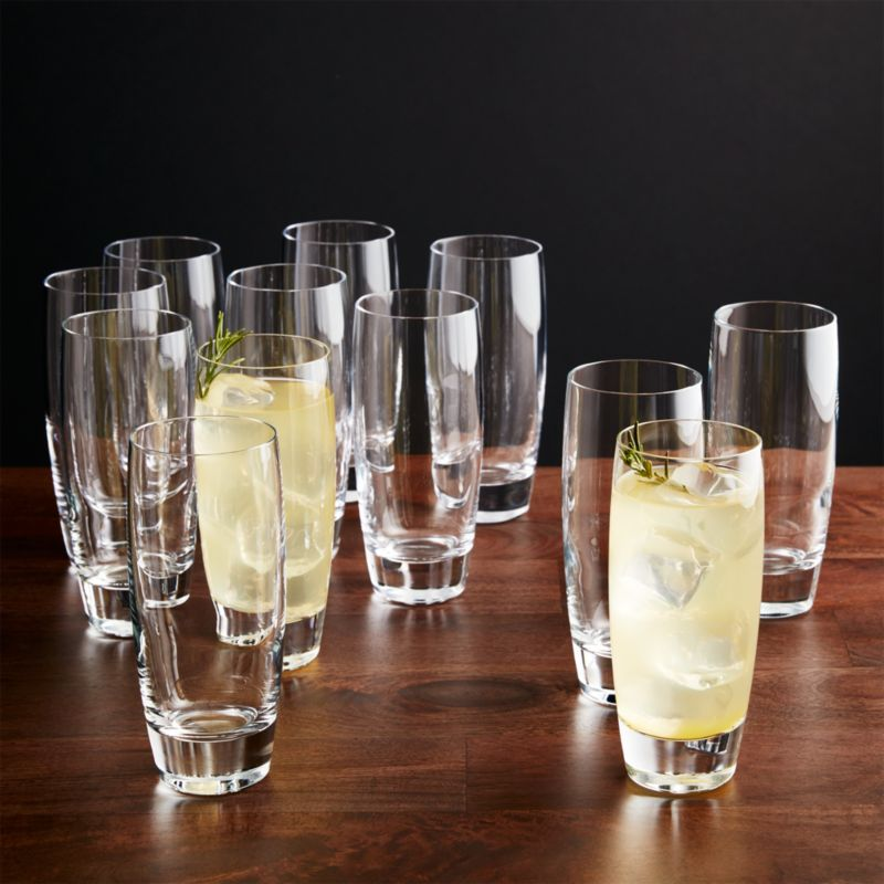Otis Tall Drink Glasses Set of 12  Reviews  Crate and Barrel