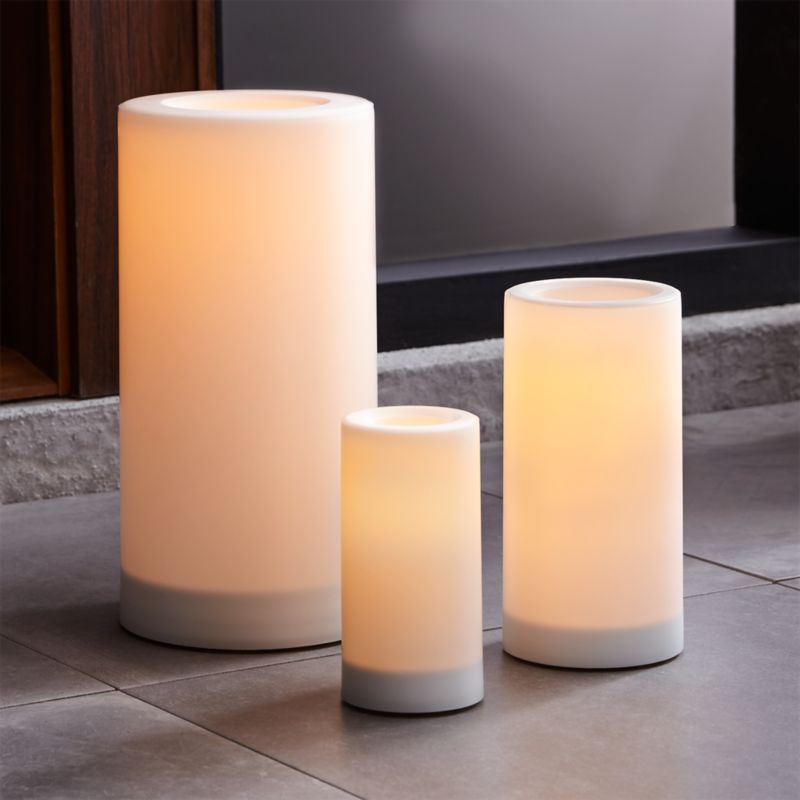 indoor outdoor pillar candles