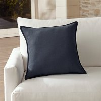 Sunbrella Navy Outdoor Pillow | Crate and Barrel