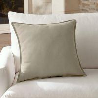 Sunbrella Grey Outdoor Pillow | Crate and Barrel