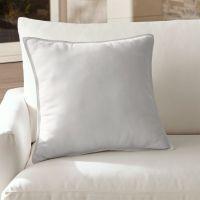 Sunbrella White Outdoor Pillow | Crate and Barrel
