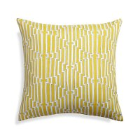 "Maze 20"" Sq. Yellow Outdoor Pillow 