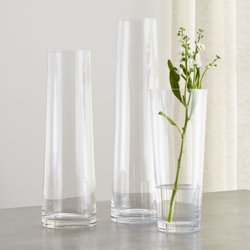 Palmetto Tall Glass Floor Vases  Crate and Barrel