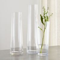 Palmetto Tall Glass Floor Vases | Crate and Barrel