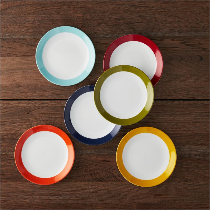 Party Plates Set of 6 in Appetizer  Dessert Plates  Reviews  Crate and Barrel
