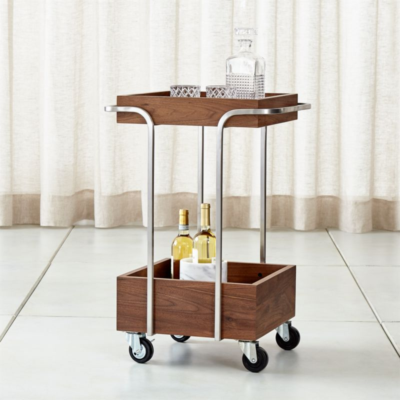 storage box chair philippines modern leather dining chairs canada pearson utility cart + reviews | crate and barrel