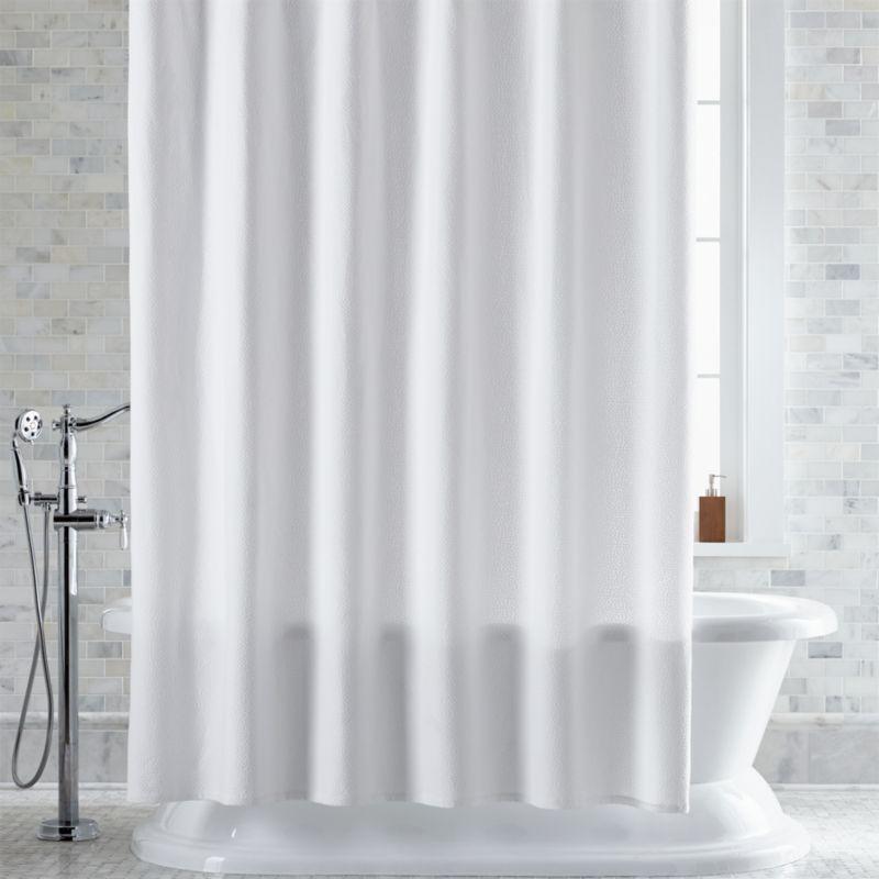Pebble Matelassé White Shower Curtain Crate And Barrel
