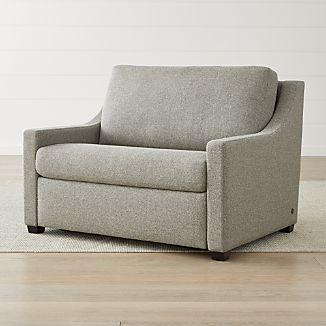 twin sleeper chair slipcover step stool plans chairs crate and barrel perry sofa
