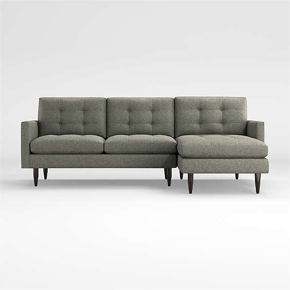mid century sectionals crate and barrel