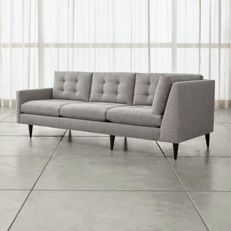 really small corner sofas rugs for brown leather sofa petrie reviews crate and barrel petrielarcrnrsofajnsfeltgreyshf16 1x1