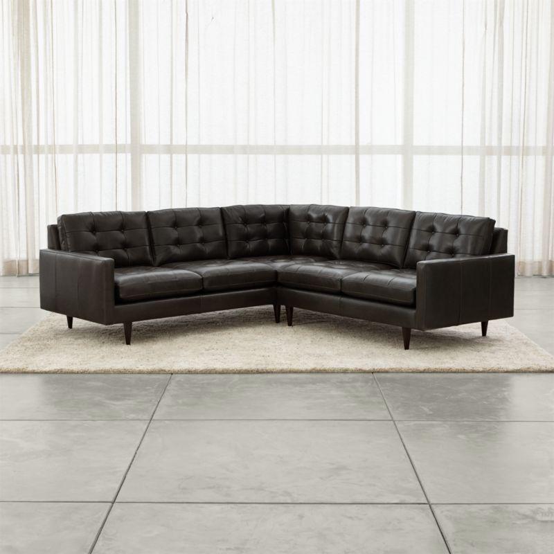 leather sectional sofas sofa frames ltd mountain ash petrie 2 piece corner midcentury crate and petrielthr2pcsctlacrnsfcarbonshf16 1x1