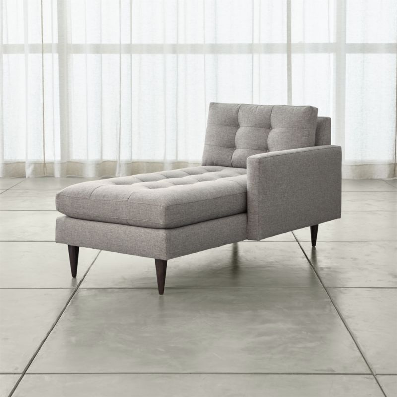tufted chaise lounge chair high back office lounges crate and barrel