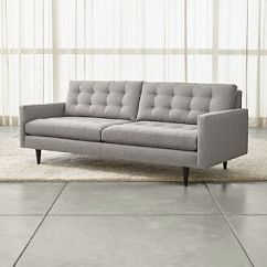 Tufted Button Sofa Lane Cameron Reclining Review Sofas Crate And Barrel