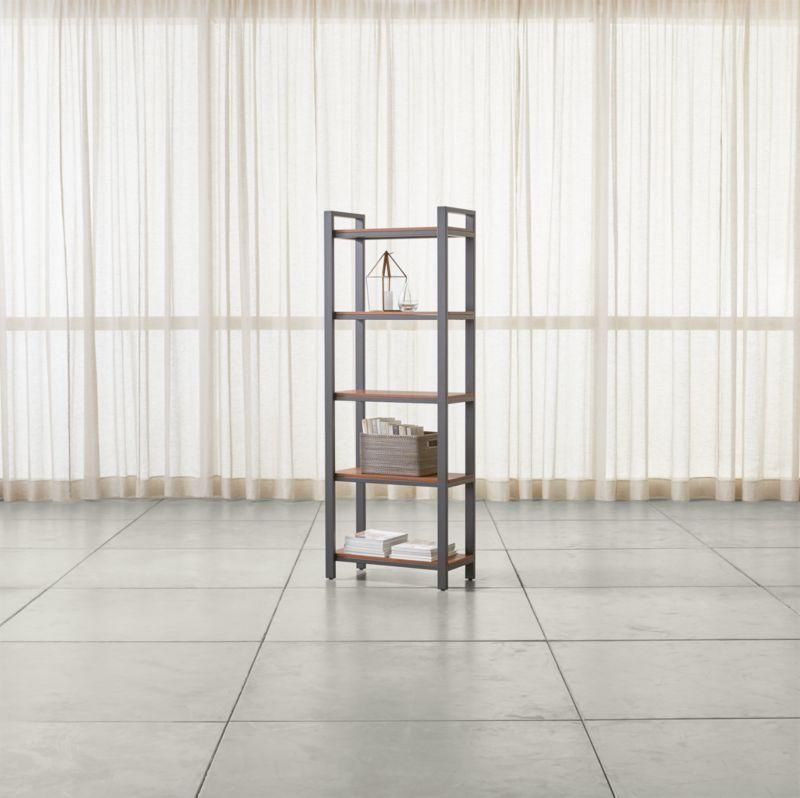 Pilsen Graphite Bookcase with Walnut Shelves  Reviews